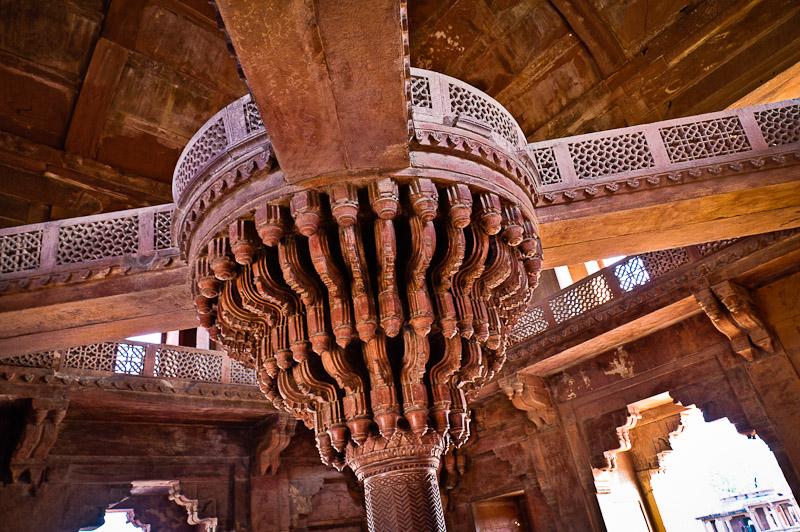 Audiëntiehal in het paleis van Akbar, Fatehpur Sikri